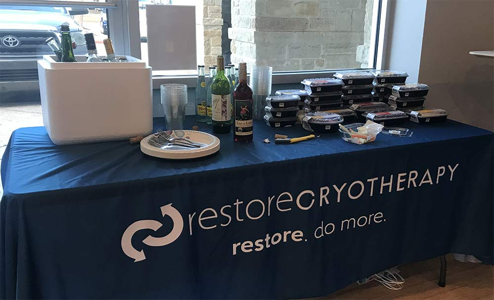 Sip and Stretch at Restore Hyper Wellness & Cryotherapy